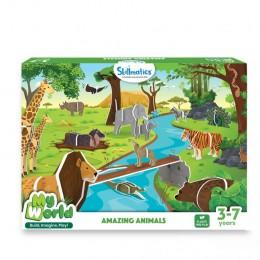My World – Amazing Animals | Building Toy & Plastic Free Playset