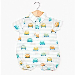 Smiley Cars Boy's Romper