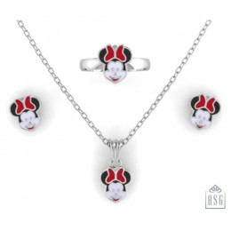 Sterling Silver Minnie Mouse Baby Jewellery Set