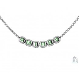 Sterling Silver Name Necklace for Baby & Child with Dice baby Cubes