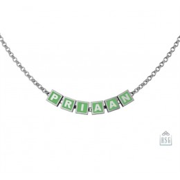 Sterling Silver Name Necklace for Baby & Child with Square Baby Cubes