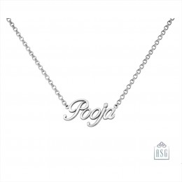 Sterling Silver Name Necklace with a simple italic font for Women & Girls