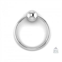 Sterling Silver Single Ring Teether Baby Rattle