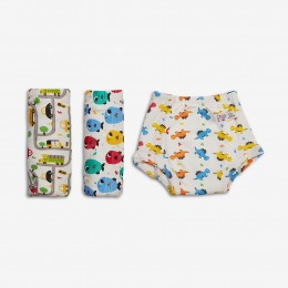 Pack of 9 Padded Underwear (Potty Training Pants)