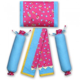 Toys and Rattles -Pink Dohar set