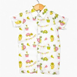Turtle Boy's Romper