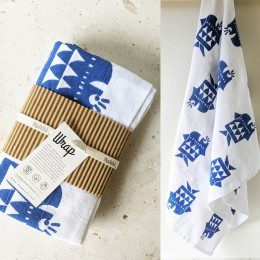 WRAP - Light Bath Towel : Finn Blue