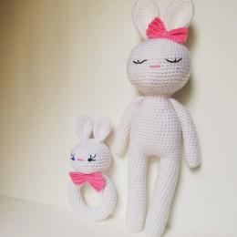 Bunny Rattle Set