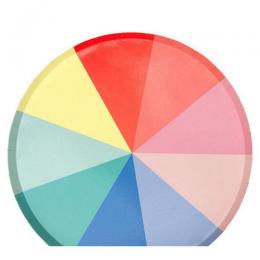 Color Wheel Large Plates