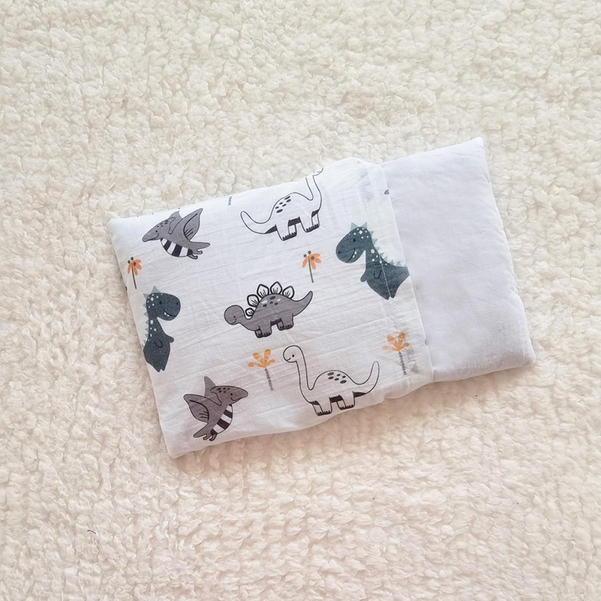 Cot Bedding Set with Rai Pillow - Dino
