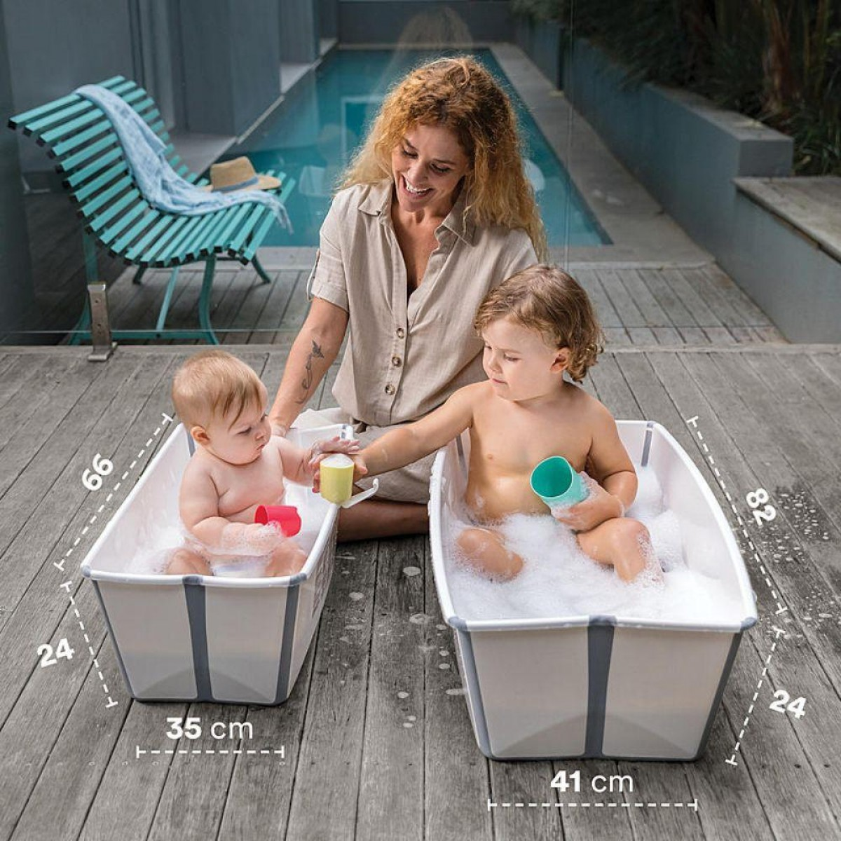 Flexi Bath Tub XL White