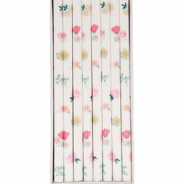 Floral Pattern Candles Set of 16