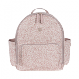 Flower Mellow Pink Backpack Diaper Changing Bag