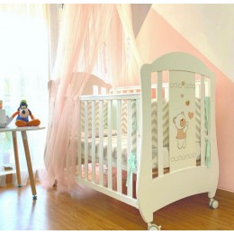 Grow Up Baby Crib Bed – White