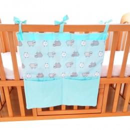 Sheep Baby Cot Bag Blue