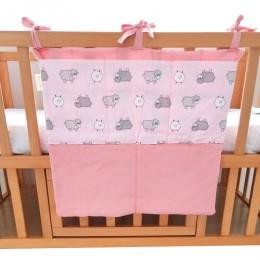 Sheep Baby Cot Bag Pink