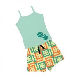 Ludo - Girl Vest  Boxer Shorts