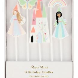 Magical Princess Candles Set of 5