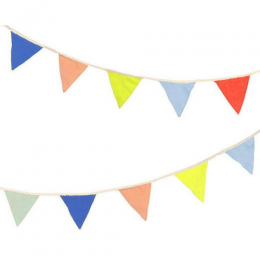 Multicolor Knitted Flag Garland