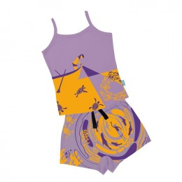 Night Diving - Girl Vest And Boxer Shorts