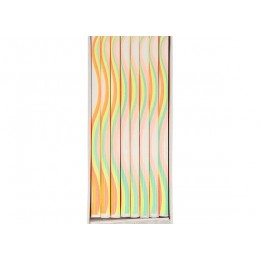 Rainbow Pattern Candles set of 16