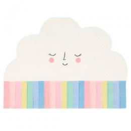 Rainbow Sun Cloud Napkins Set of 20