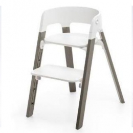 Steps High Chair - White/Hazy Grey