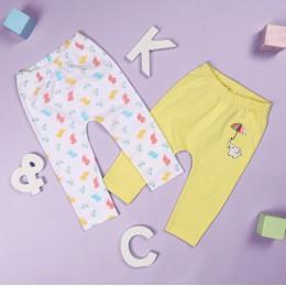 Baby Elephants Girls Diaper Leggings - 2 Pack