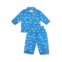 Cute Rainbow Doodle Nightsuit - Adults