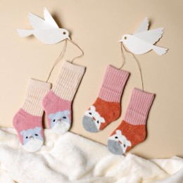 Happy Hamster Pink And Peach sock - 2 pack