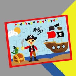 Colour Me In Puzzle - Pirate