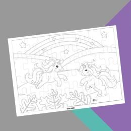 Colour Me In Puzzle - Unicorn
