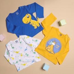 Snuggly Dino Long Sleeves Tshirt - 3 Pack