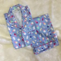 Blue Popsicle Pyjama Set - For Adult