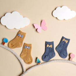 Bows And Toes Yellow & Blue Socks - 2 pack