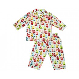 Colorful Retro London Theme Nightsuit - Adult