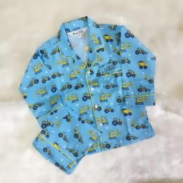 Construction Vehicles Pyjama Set - For Adult