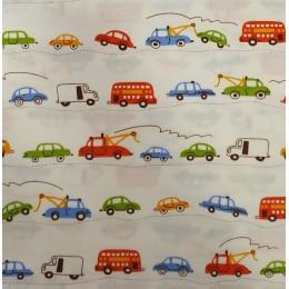Cream Base Cars Pyjama Set - For Adult