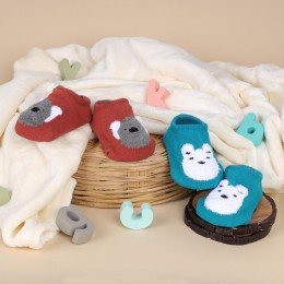 Cutie Bear Blue And Red Socks - 2 pack