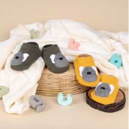 Cutie Bear Green And Yellow Socks - 2 Pack