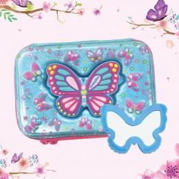 Eva Pen & Pencil Case - Butterfly