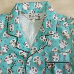 Green Baby Panda Pyjama Set - For Adults