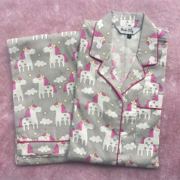 Grey Unicorns Pyjama Set - For Adults