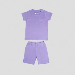 Half Sleeve T-shirt & Sporty Shorts – Orchid