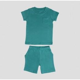 Half Sleeve T-shirt & Sporty Shorts – Sage