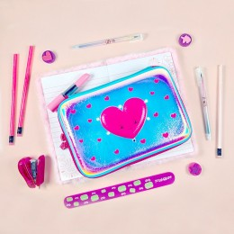 Heart Love Led Light Eva Pen And Pencil Case