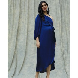 Lapis One Shoulder Dress