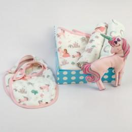 New Beginnings Organic Muslin Gift Box Fairytale