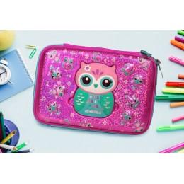 Owl Pachino Eva Pen And Pencil Case ( Mirror)