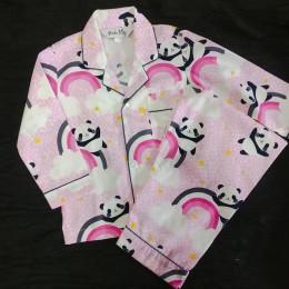 Pink Panda Pyjama Set - For Adults